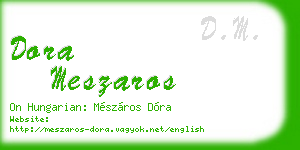 dora meszaros business card